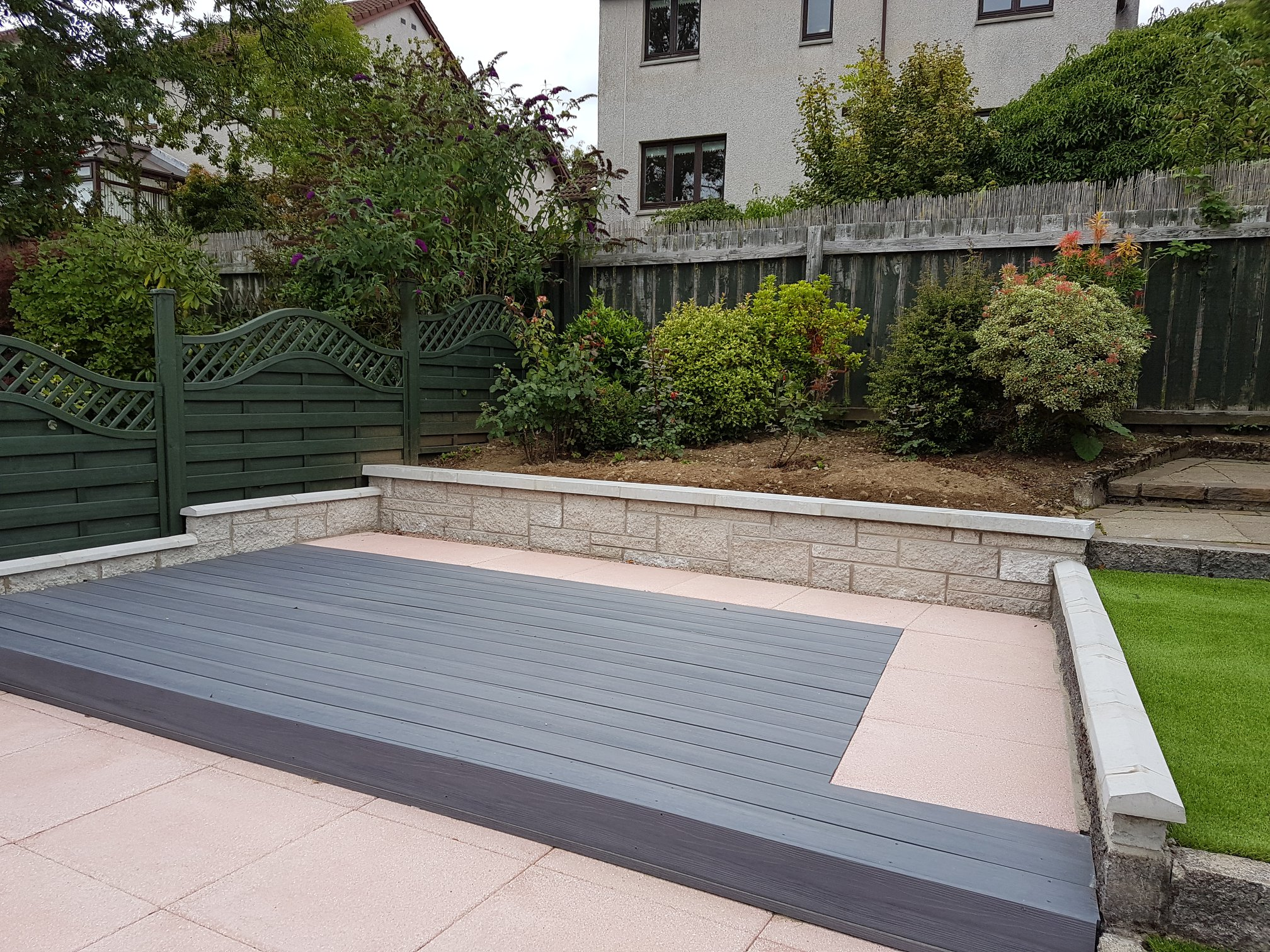composite decking installed