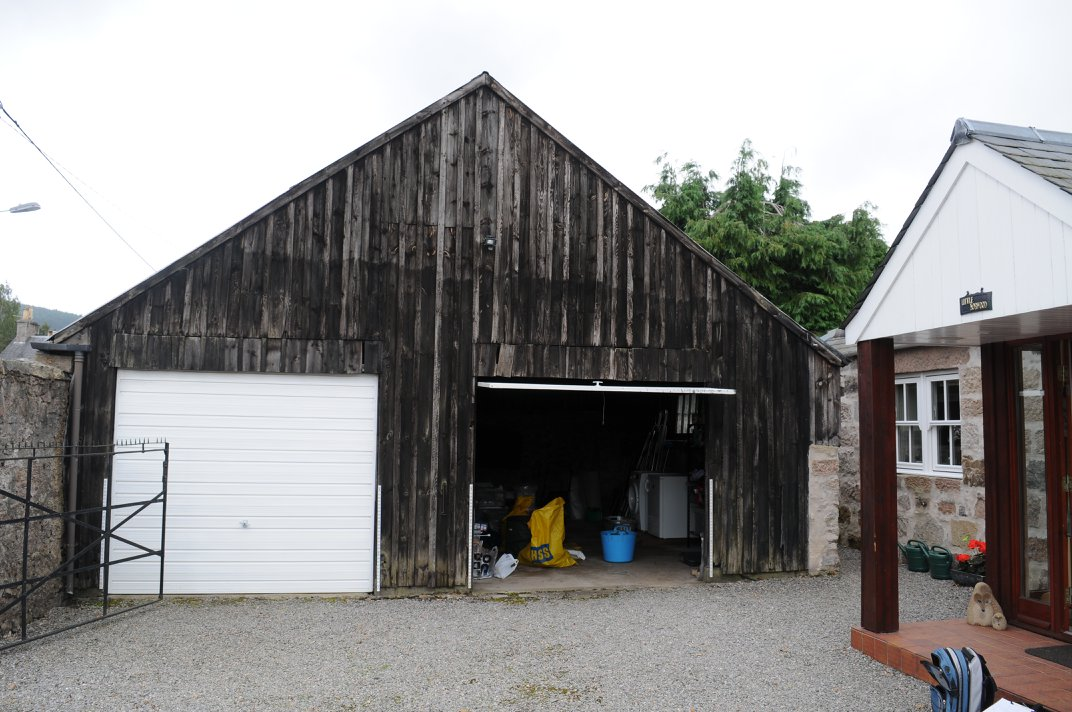 old timber garage