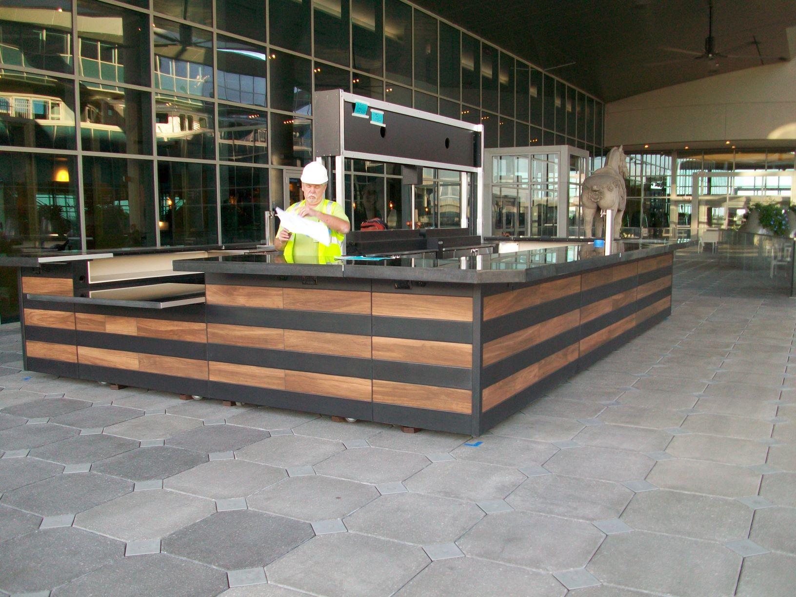 Metal and Tile Airport Bar