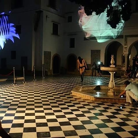 First live performance ever at Bardo National museum of Algiers. Joining light projections, Architecture, Land art project and Body & Limits. at @altiba9 Algiers. ______ #mohamedbenhadj #Mo' #performance #art #artist #live #show #contemporaryart #arabcurators #arabartists #arabperformers #artfair #artdubai #gallery #festival #exhibition #exhibit #religion #algeria #bardomuseum #performer #avantgarde #architecture #museum #contemporary @artxmena