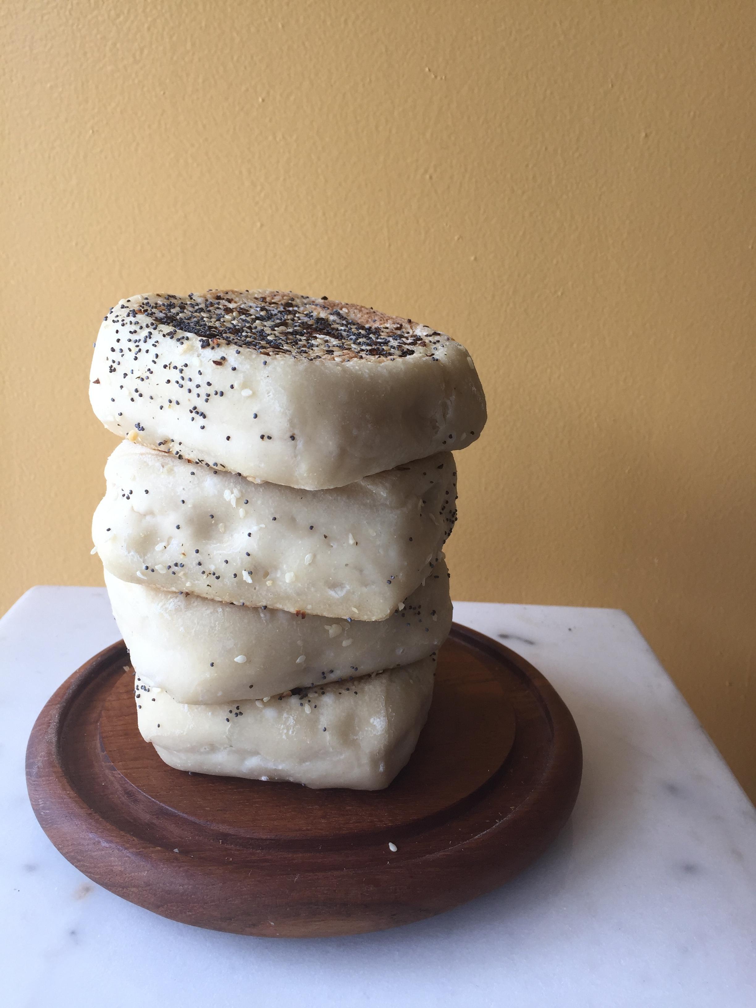 Sesame English Muffins