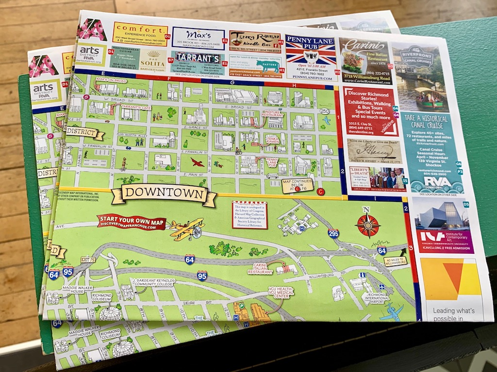 The Richmond Discovery Map has an entire section dedicated to the  Arts District , making it easy to find your way around.