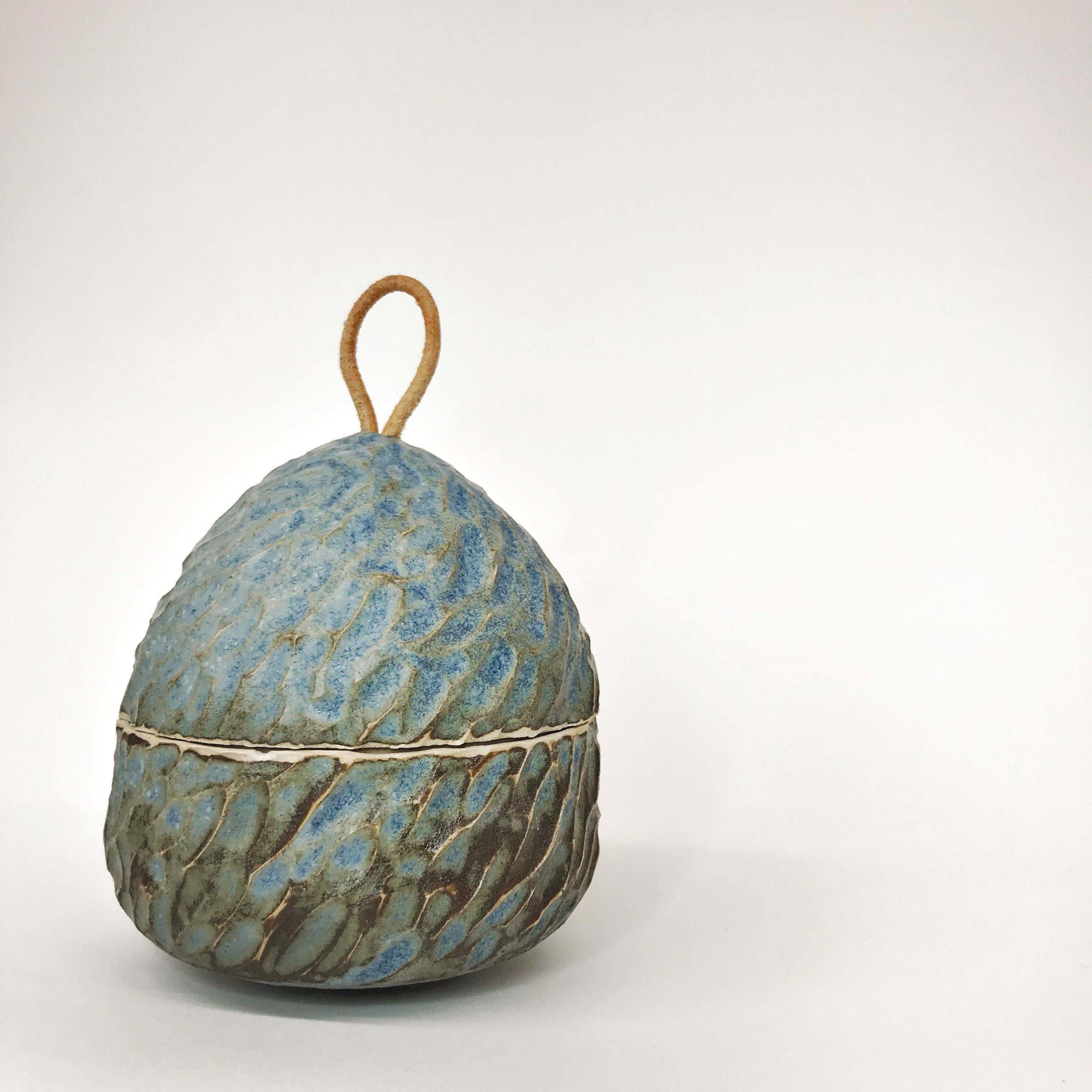 Carved Pot (blue)
