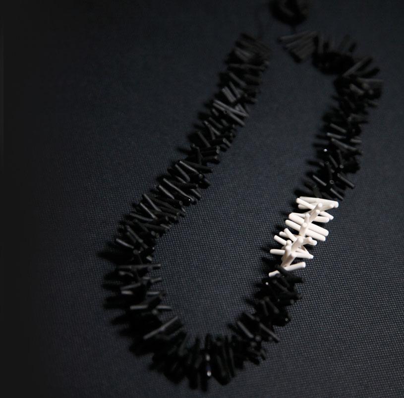 Urchin Necklace (black)