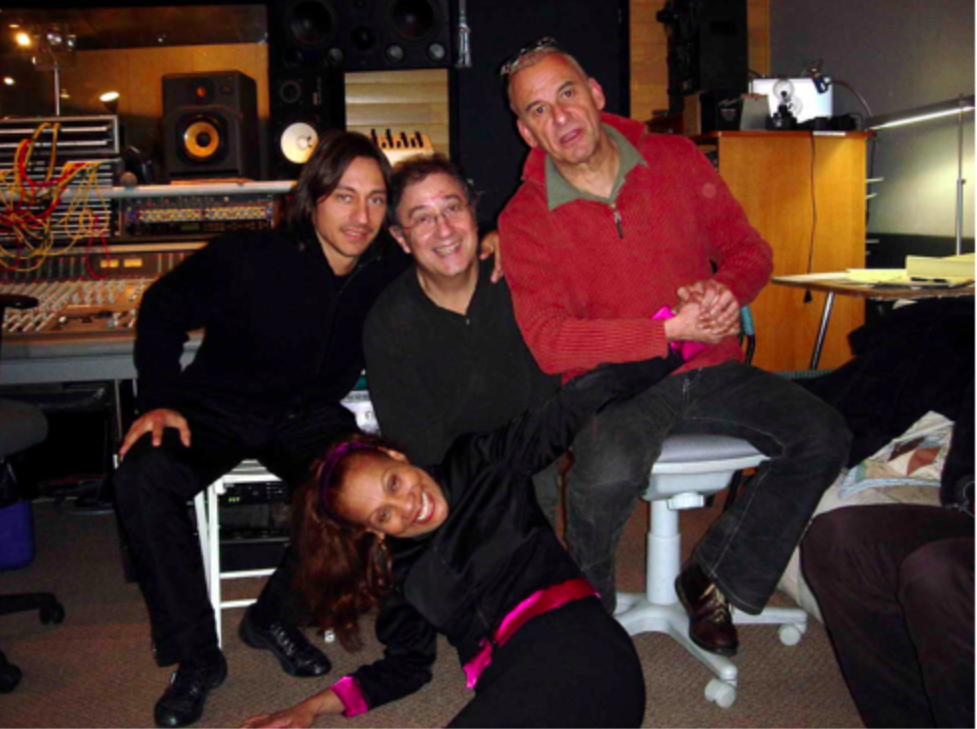 Here's me in good company… (Bob Sinclar + Michel Fugain + Salome de Bahia) working on a duet for Salomé's latest album