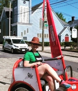 Looking for a fun way to attract attention to your brand, product or service?  We offer a variety of marketing services from something as simple as flying a flag or two with your brand prominently displayed, to vinyl paneling, full wraps, branded drivers and more.  #MHT #ManchesterNH #ManchVegas #Pedicab #Peddl #PeddlPower #LuvMHT