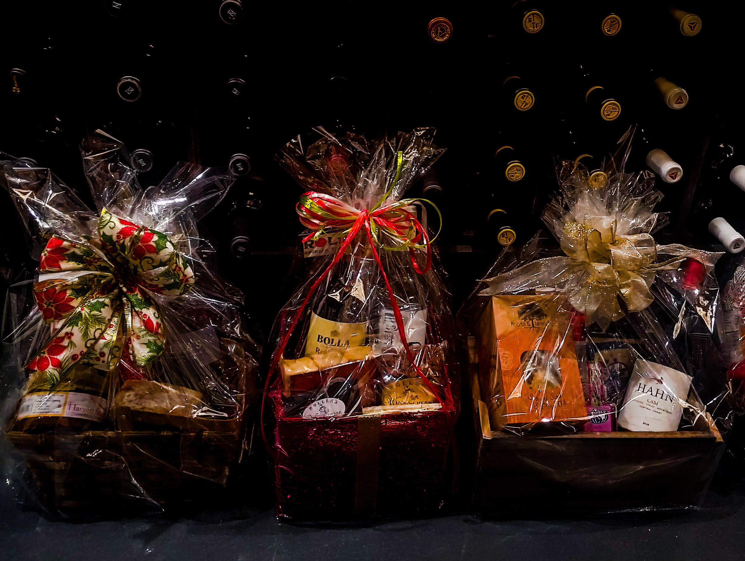 Gift Baskets - Perfect for any occasion, a personalized gift basket ensures no moment goes understated. Not sure what to include in your basket? Let our sommeliers select the perfect wine and accompaniments that are sure to please. We are pleased to offer same-day gift basket delivery in the Bluffton/Hilton Head area!