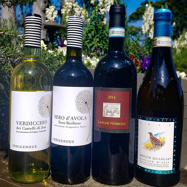 Kick your weekend off with a $15 tasting of these 4 delicious wines and cheeses to pair! _____ Wine line up left to right!... Indigenous Verdicchio Dei Castelli Di Jesi 2016  Indigenous Nero d'Avola 2016  La Spinetta #Moscato Bricco Quaglia 2017  La Spinetta Langhe #Nebbiolo 2014 _____ 2/22 5:00 to 7:00pm at 9 Palmetto Bay Rd _____ NO RESERVATIONS REQUIRED _____ #winetasting #cheesetasting #indigenousselections @indigenousselections #winelover #Italianwine #langhenebbiolo #moscatodasti #laspinetta
