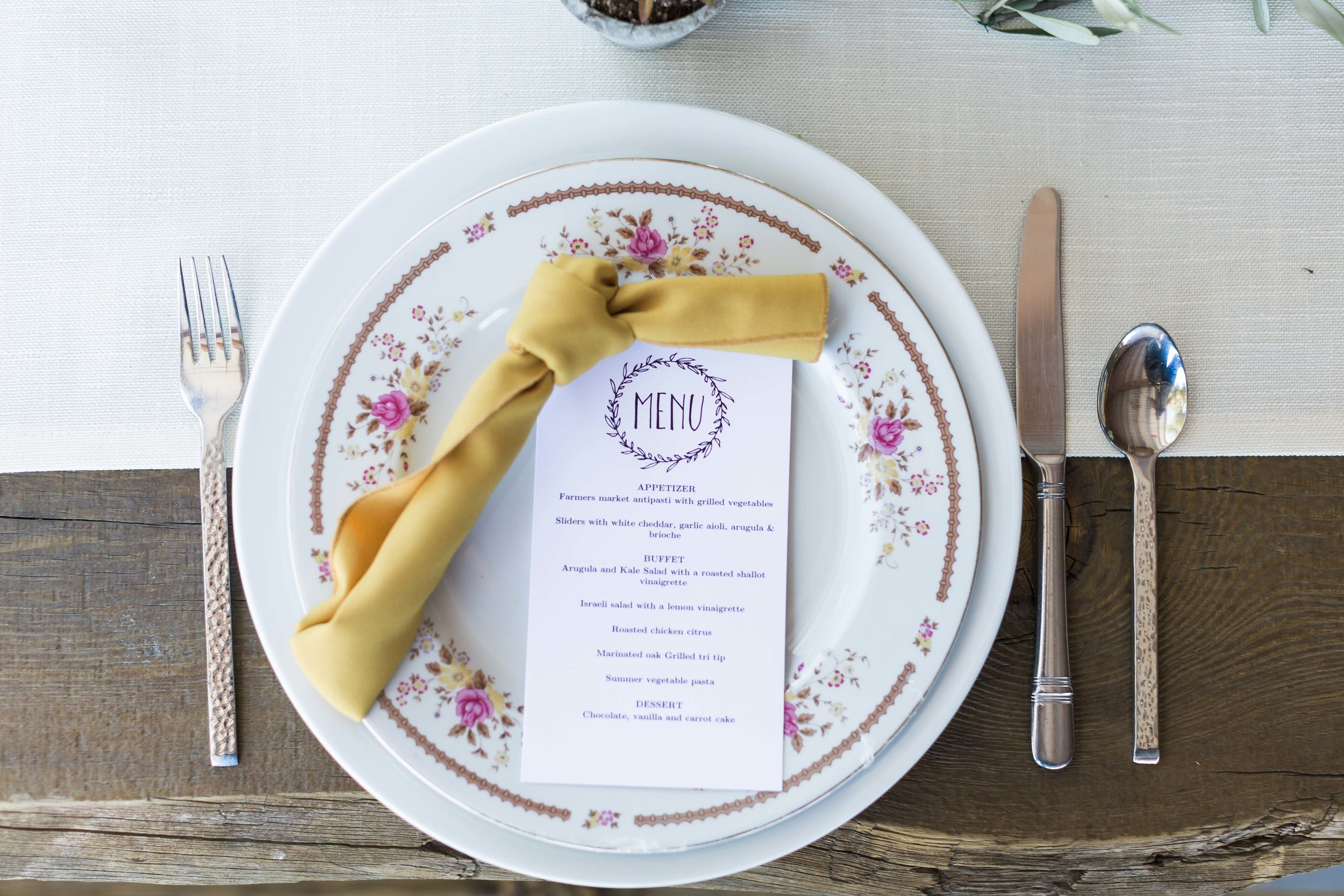 Vintage Place Setting Wedding