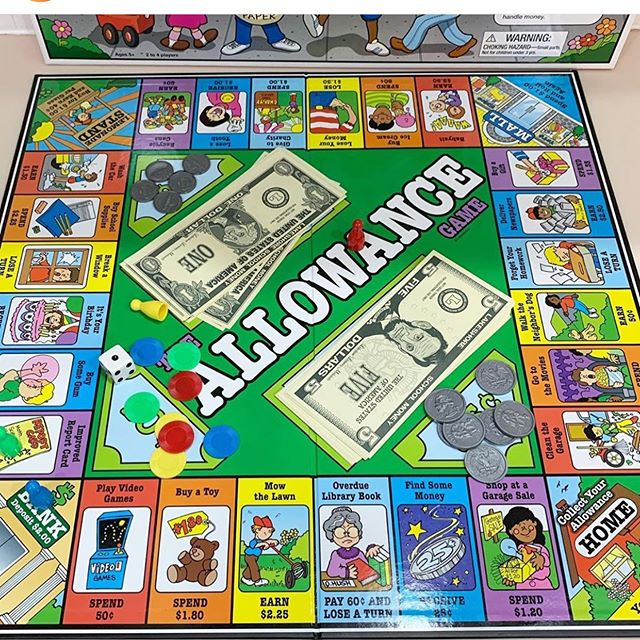 An allowance monopoly game! What a great way to introduce kids to money responsibilities!  Available new on Amazon, also new and used resales:  https://www.amazon.com/gp/offer-listing/B004ZAKI1M/ref=mw_dp_olp?ie=UTF8&condition=all ***Don't forget to buy through smile for the early learning center!
