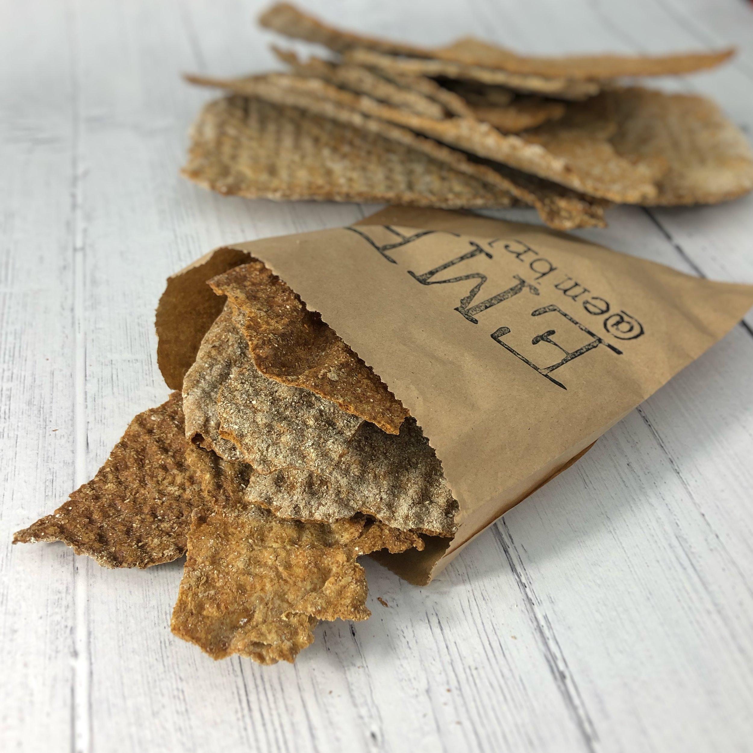 Scandi rye crisp bread