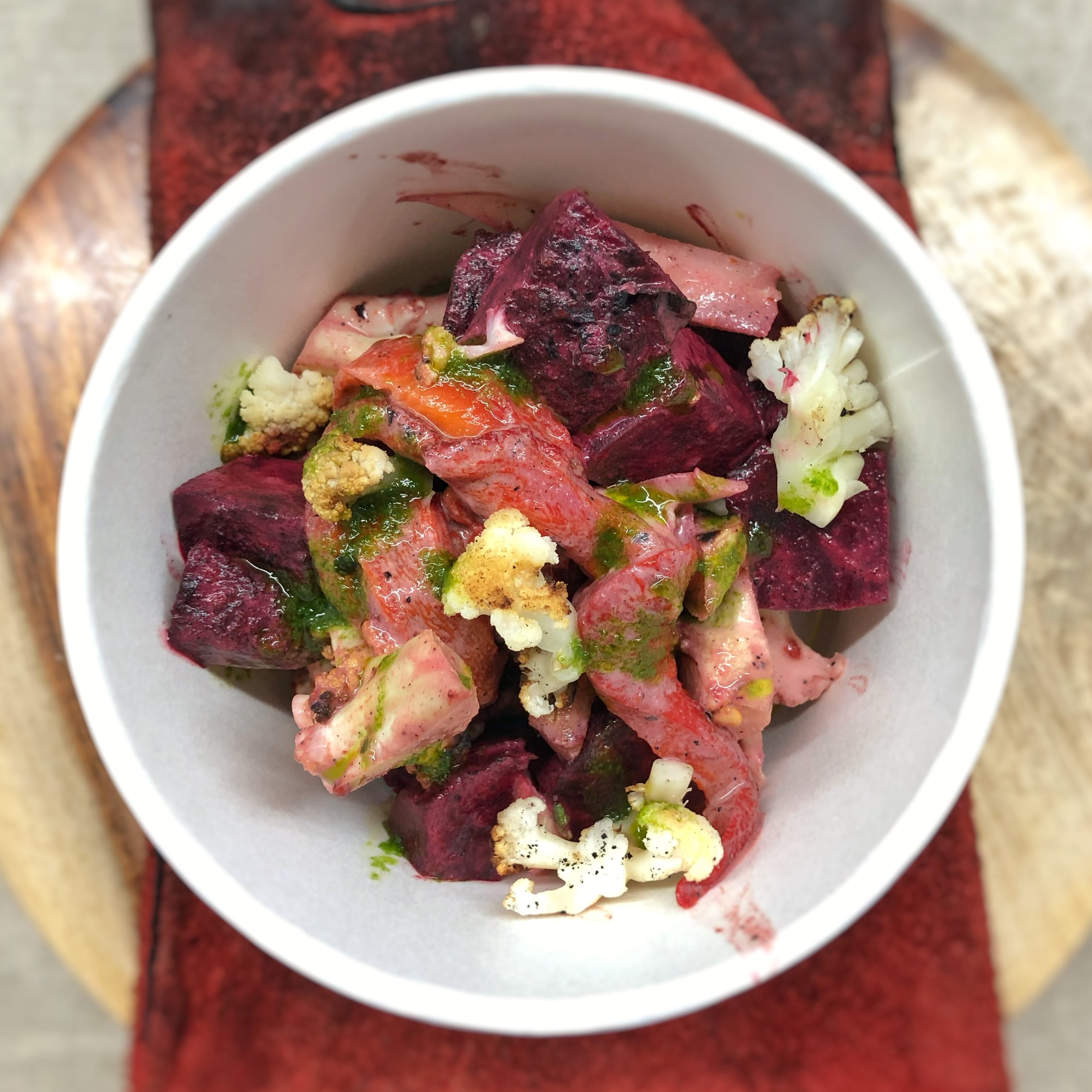 A dirty roast salad