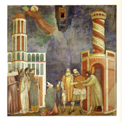 Giotto fresco in the Basillica de SanFrancesco