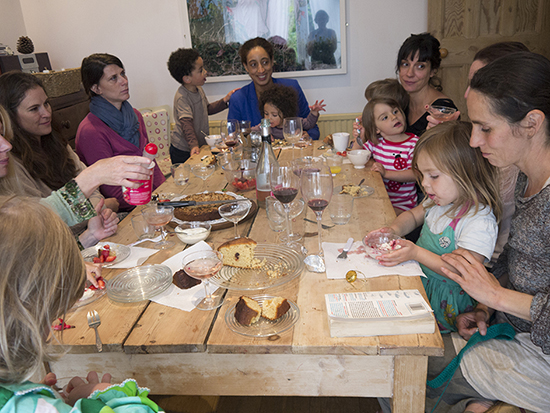 A 'Get Togetherness' lunch for women from the Holding Time project