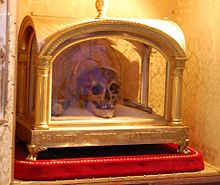 Reliquary and skull of Saint  Ivo of Kermartin  (1253–1303)