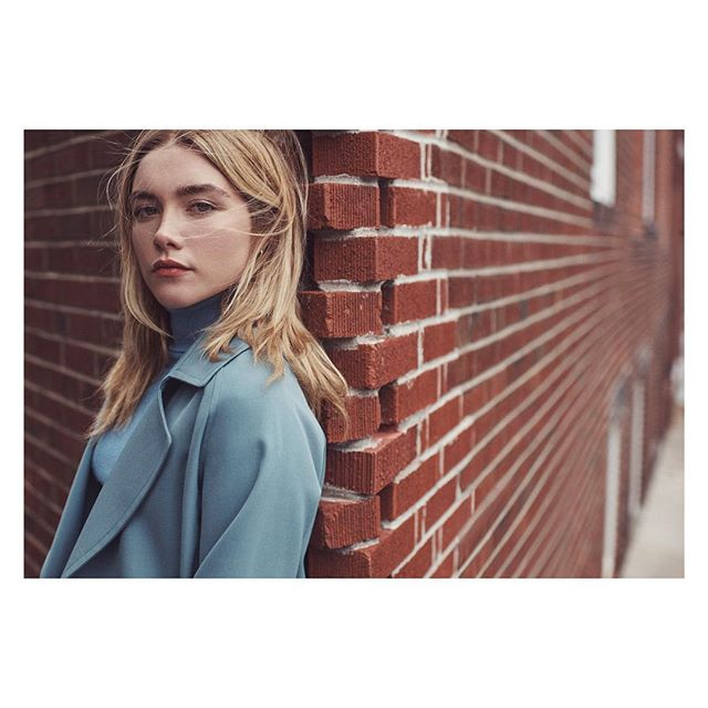 Florence in Boston @florencepugh Thank you @vanityfair . . . | Styled by @tony_irvinfe | Hair @tsukihair | Makeup @tamah_krinsky | Thank you!! @samiranasr @clintoncargill @catesturgess . . . #florencepugh #littledrummergirl #outlawking #fall #boston