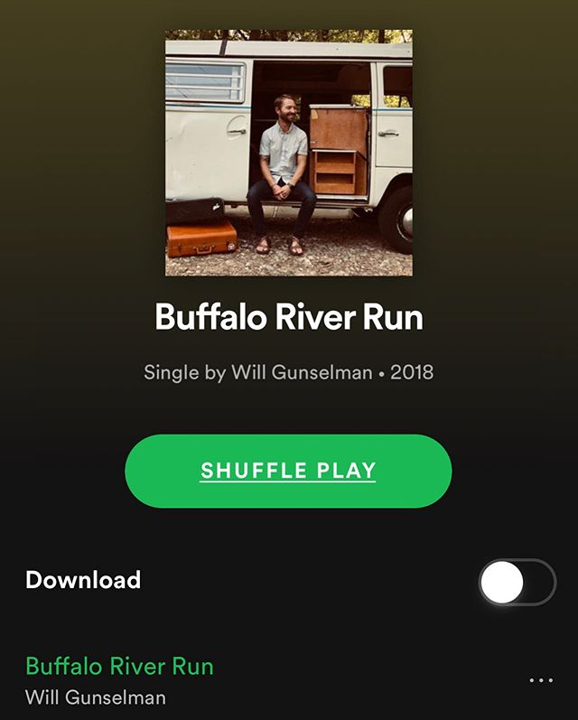 "If you haven't checked out ""Buffalo River Run"" on Spotify or iTunes, please do! Excited to be back in @haxtonroadstudios in the coming weeks working on the next!"