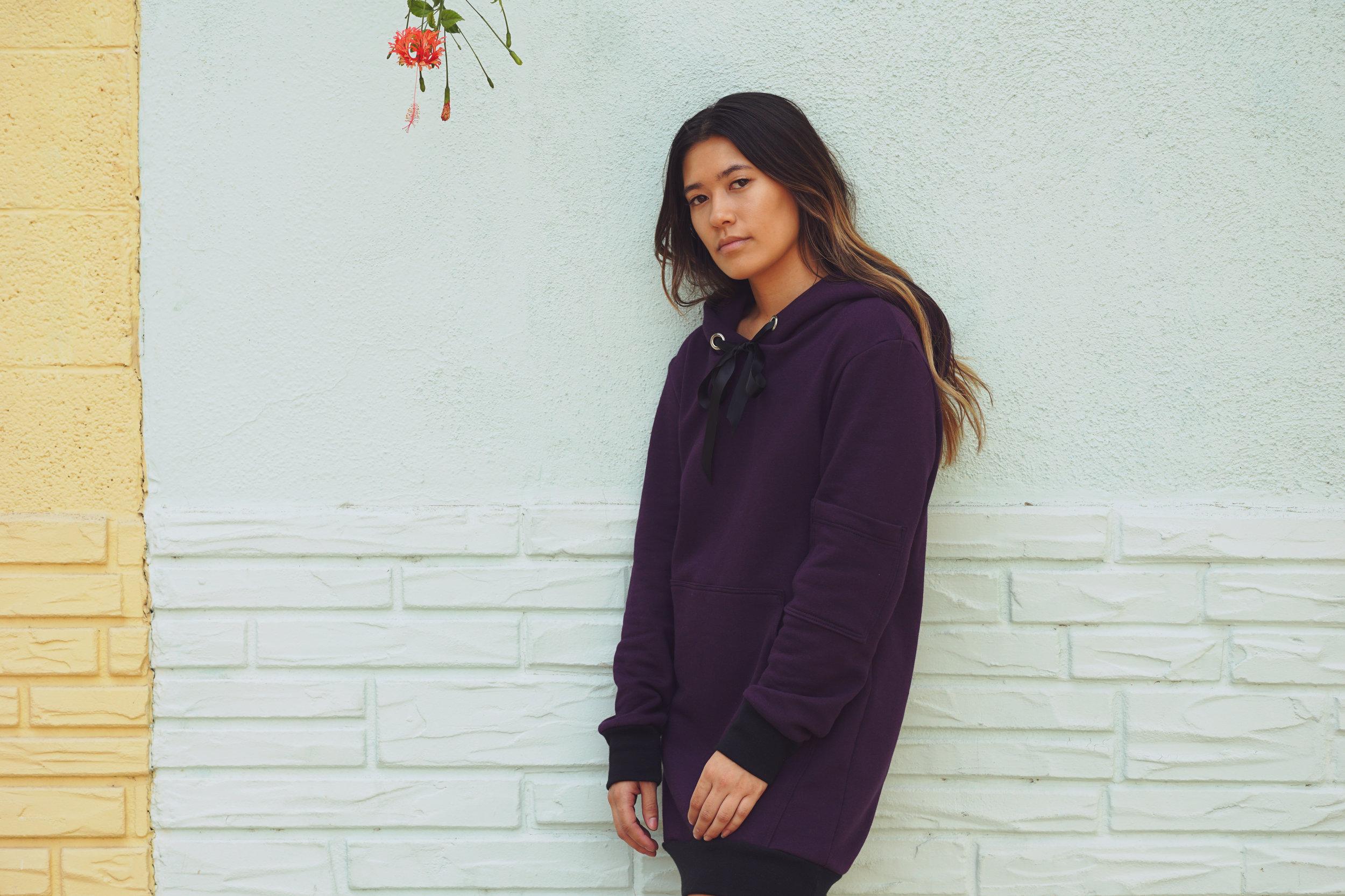 Purple Hoodie Dress  $170.00