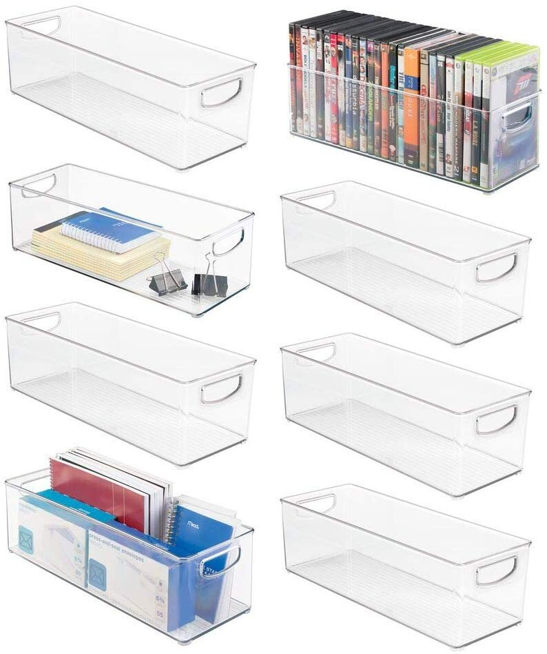 Large Stackable Plastic Storage Bin Container