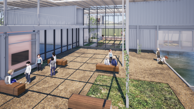 Outdoor classroom and gathering spaces