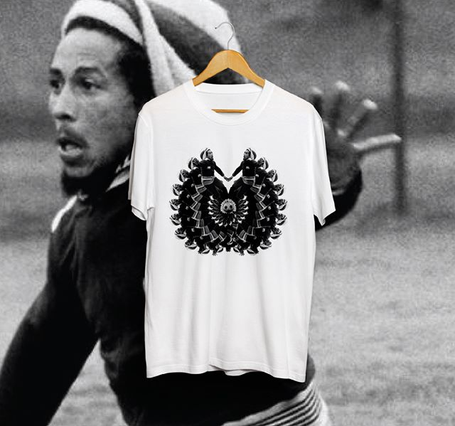 Just finished designing a batch of T-Shirts for my friend Victor. 1) Bob Marley playing 'trippy' soccer 2) Dread Lion 3) Mary Jane. If you want a custom T-shirt design, email me at hey.charlie.river@gmail.com  #tshirtdesign #bobmarley