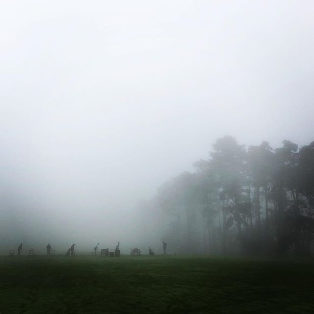 Misty mornings on the golf course. Magic. • • • #golf #golfislife #golflife #skyporn #fog