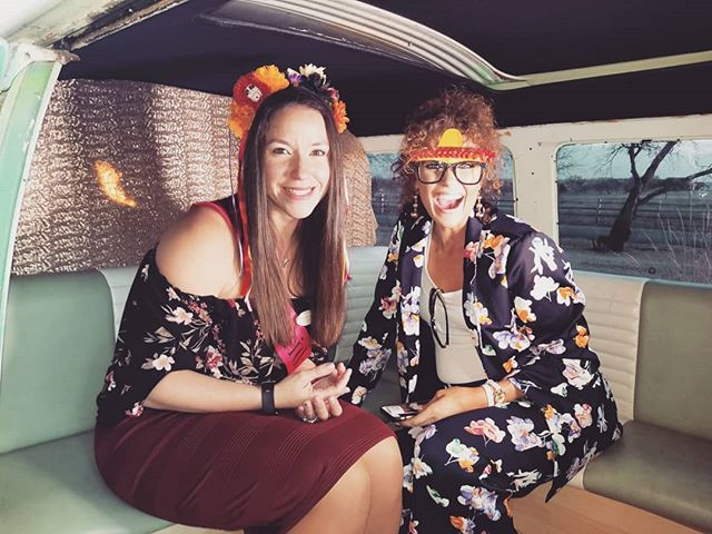 Hop on the bus! . Featuring the girls from @chapelcreekranch
