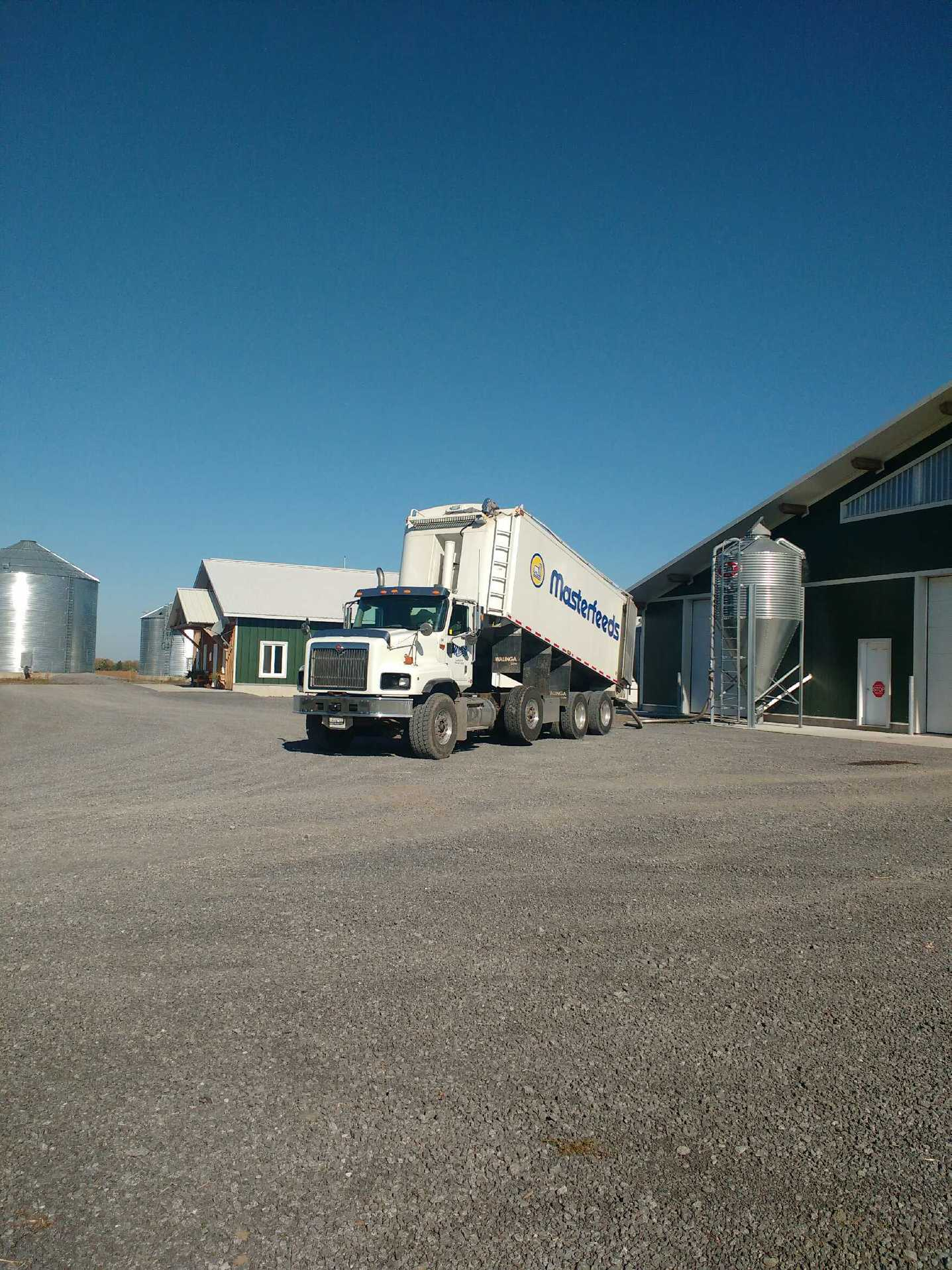 Delivering bulk feed at Kenmatten Dairy.