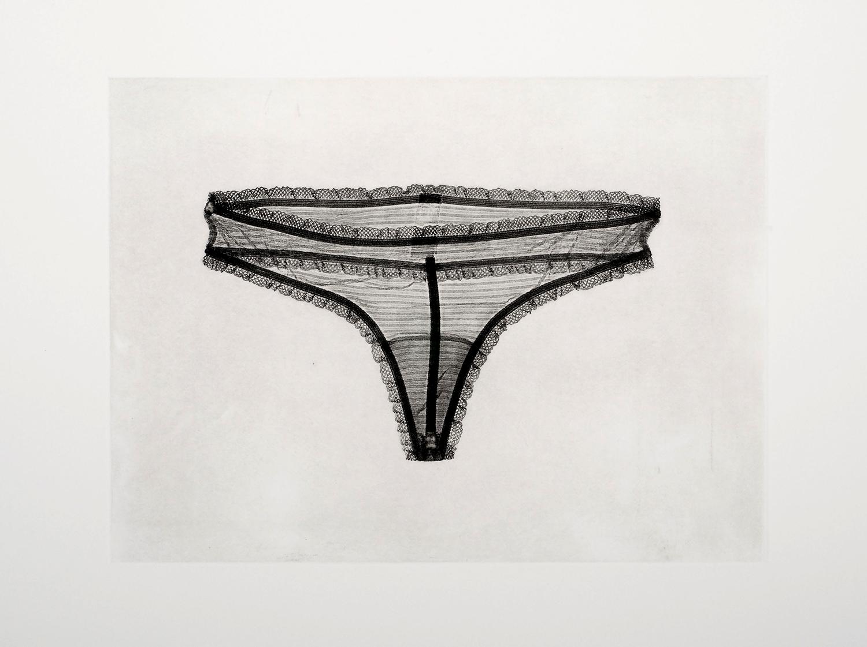 Lace-Trim Thong Panty