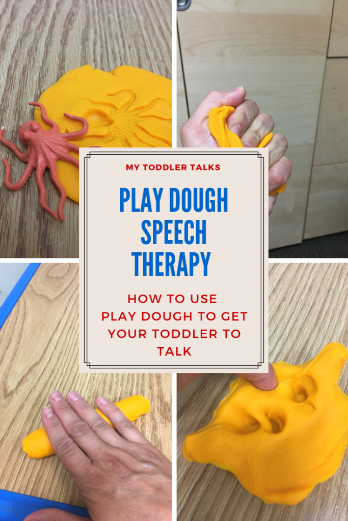Play dough, speech therapy, toddler language