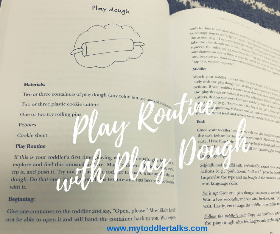 Play routine with play dough