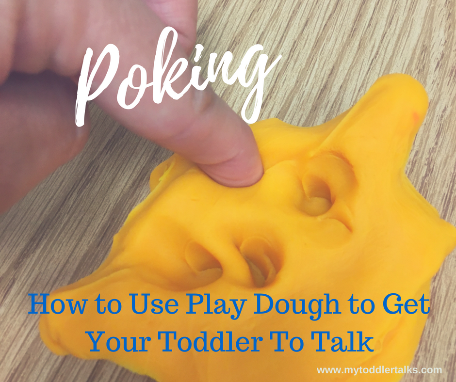 Poking Play Dough