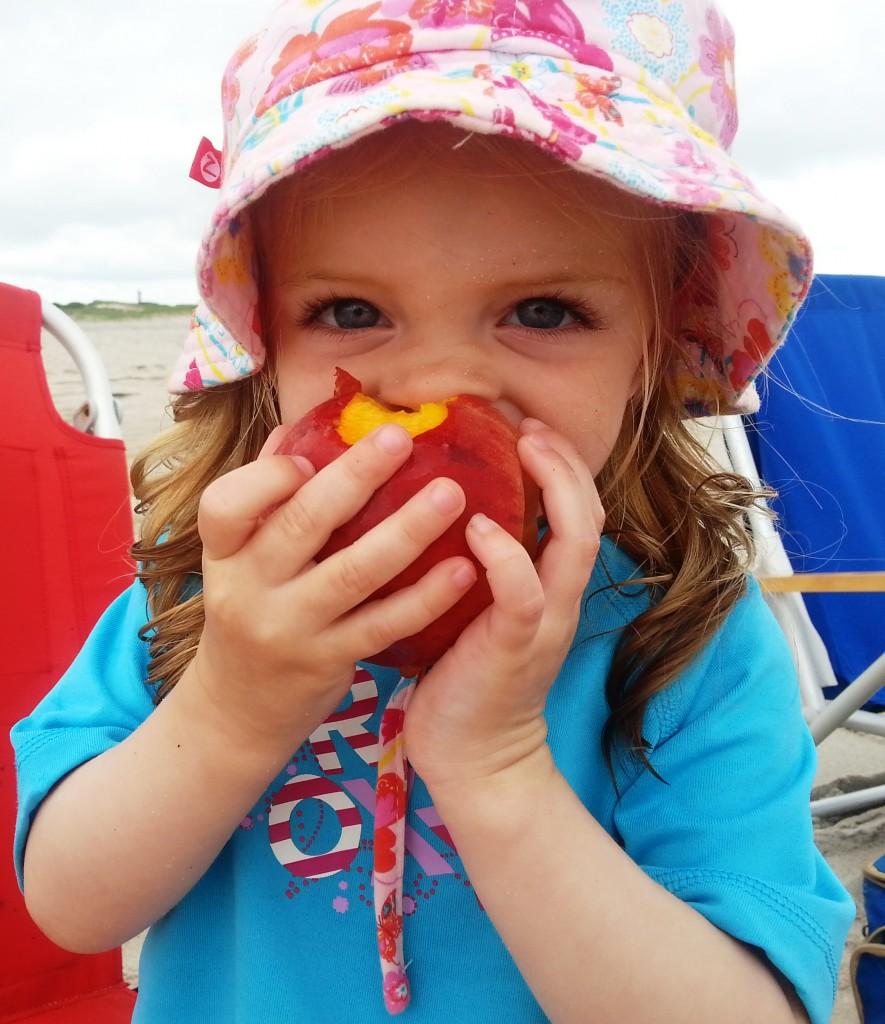 A peach at the beach