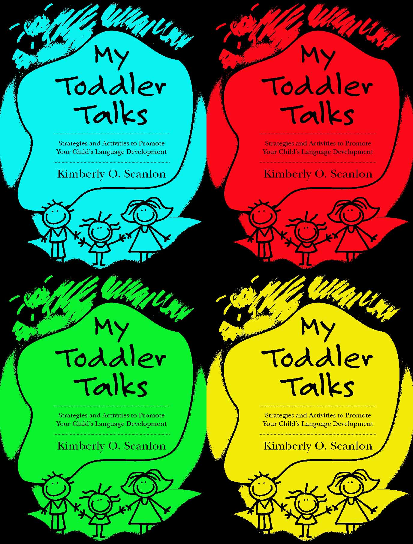 My Toddler Talks Book Cover-posterized
