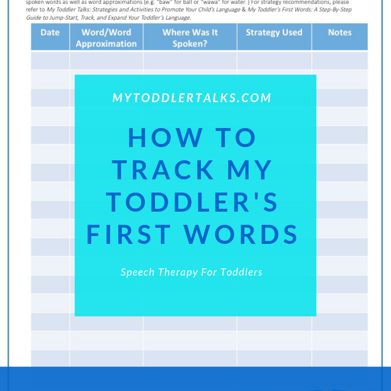 How to Track My Toddler's First Words