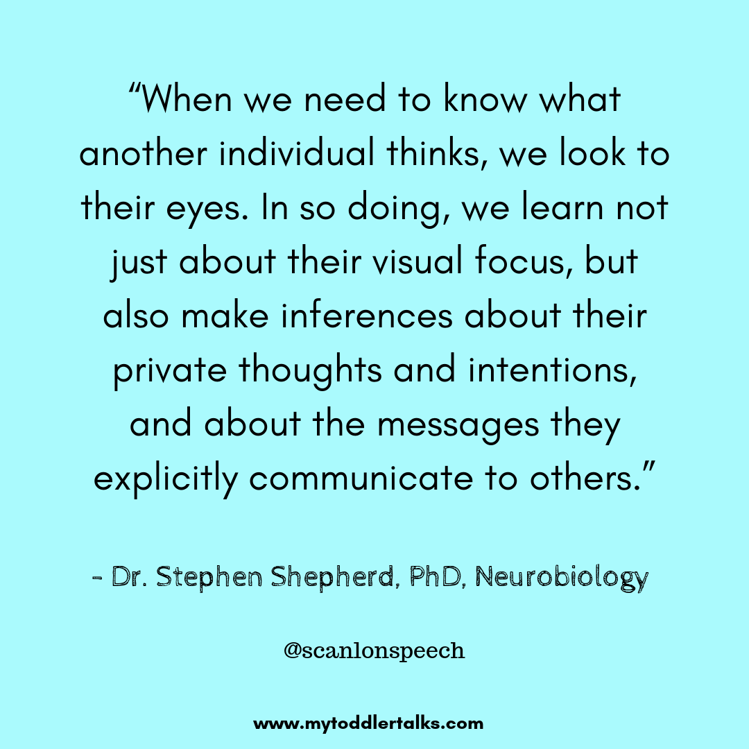 """""""When we need to know what another individual thinks, we look to their eyes. In so doing, we learn not just about their visual focus, but also make inferences about their private thoughts and intentions, and about th.png"""