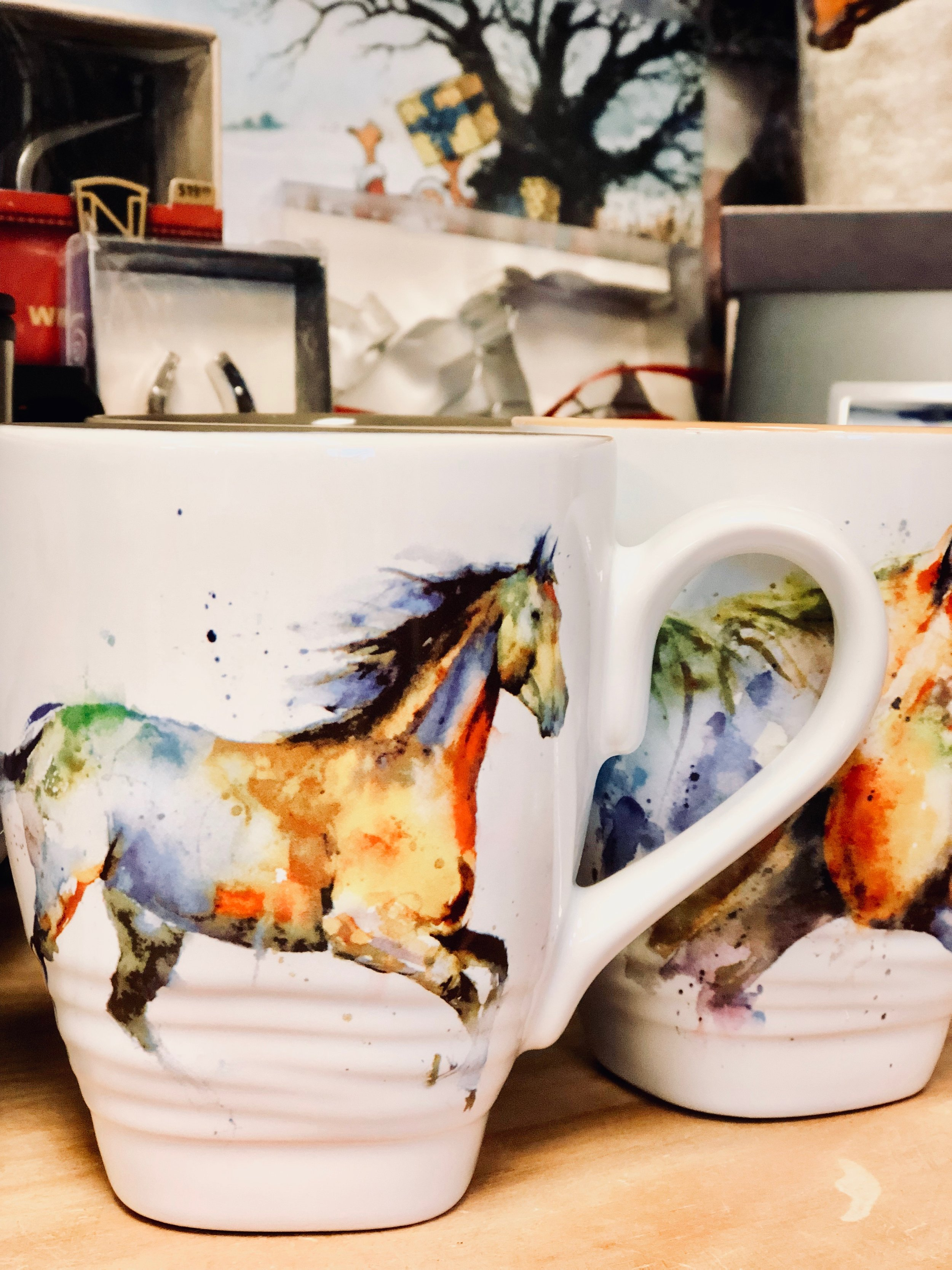 Horse water color mugs