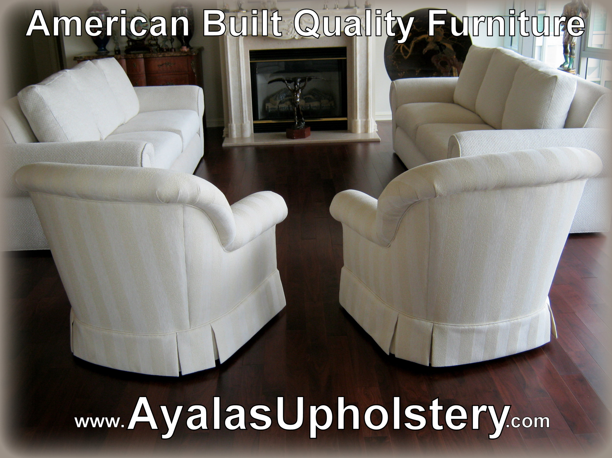 6. white swivel club chairs and 2 matching sofa by Ayalas upholstery.jpg