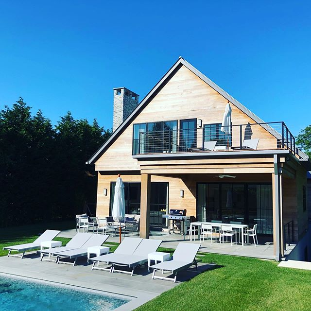 Outdoor living space - essential for summertime fun ☀️ #design #outdoorliving #homedecor #pool #designer #hamptons #summer #dandjconcepts