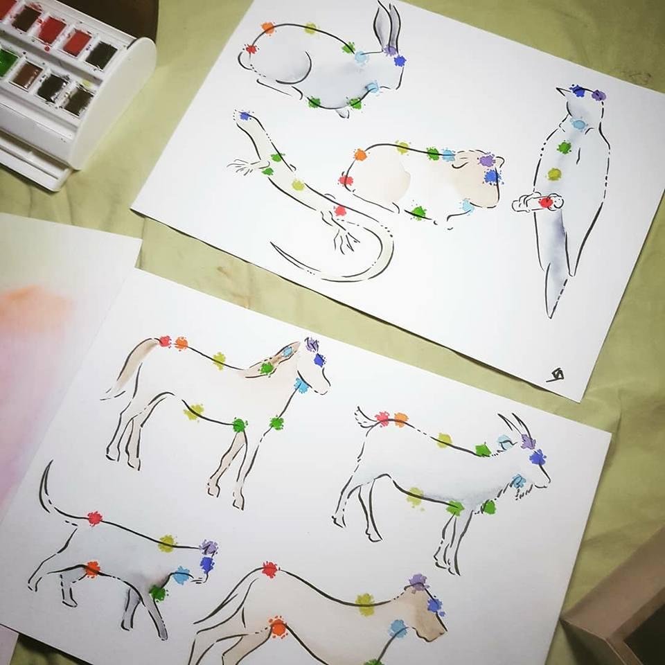 aquarelle planche chakras animaux.jpg