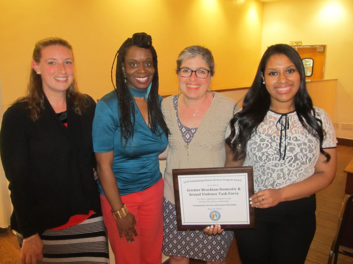 Outstanding Human Services Program Award - Congratulations to Ruth Zakarin, Director of Trauma Services at FCR, Inc. and her team on The Greater Brockton Domestic & Sexual Violence Task Force on receiving the