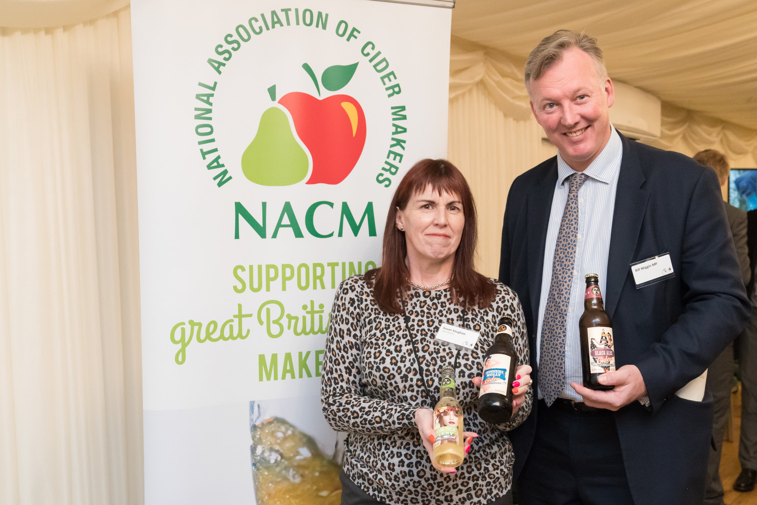 Susan Vaughan at NACM with local MP Bill Wiggin