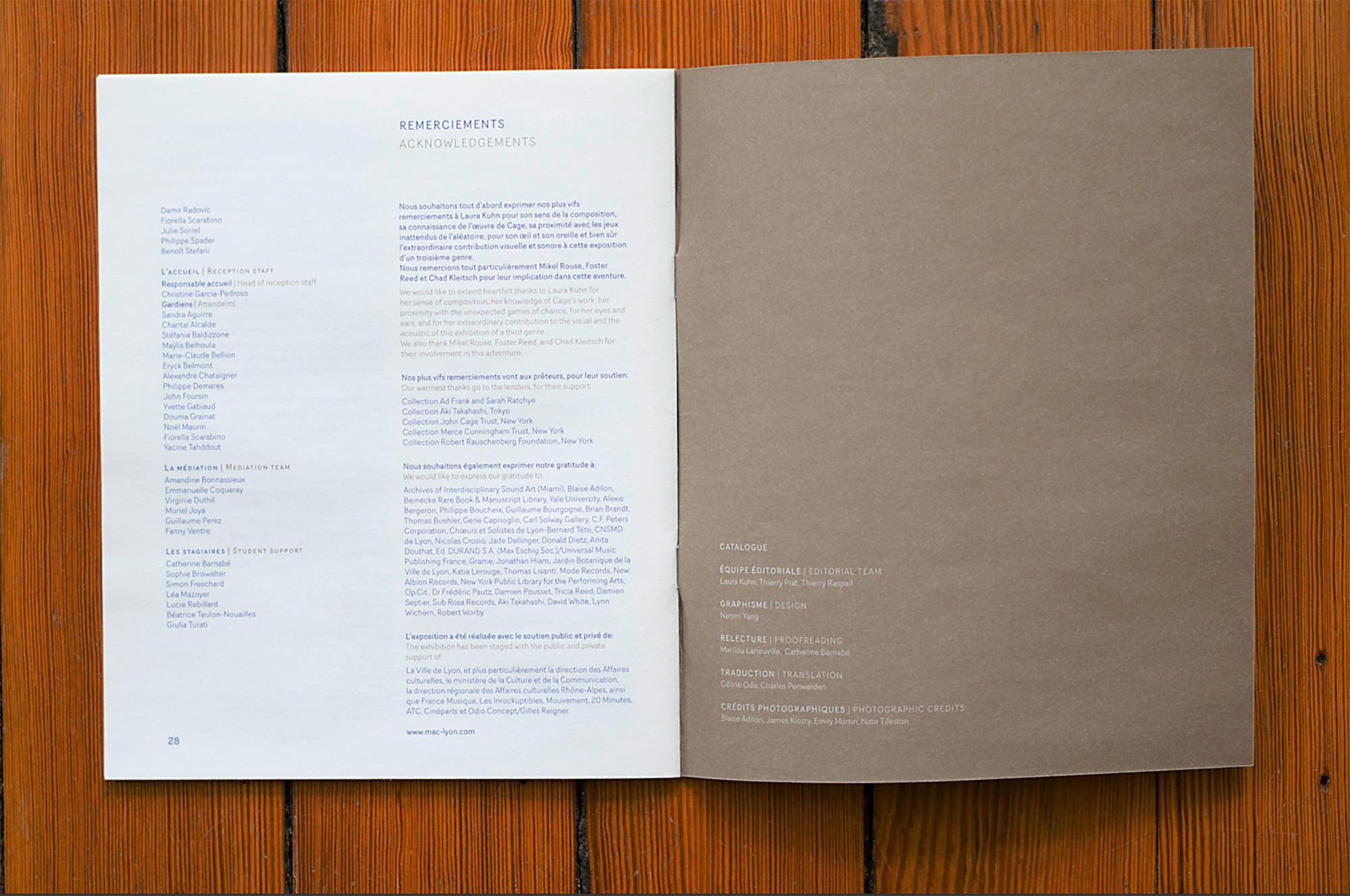 Cage's Satie Composition for Museum Catalogue