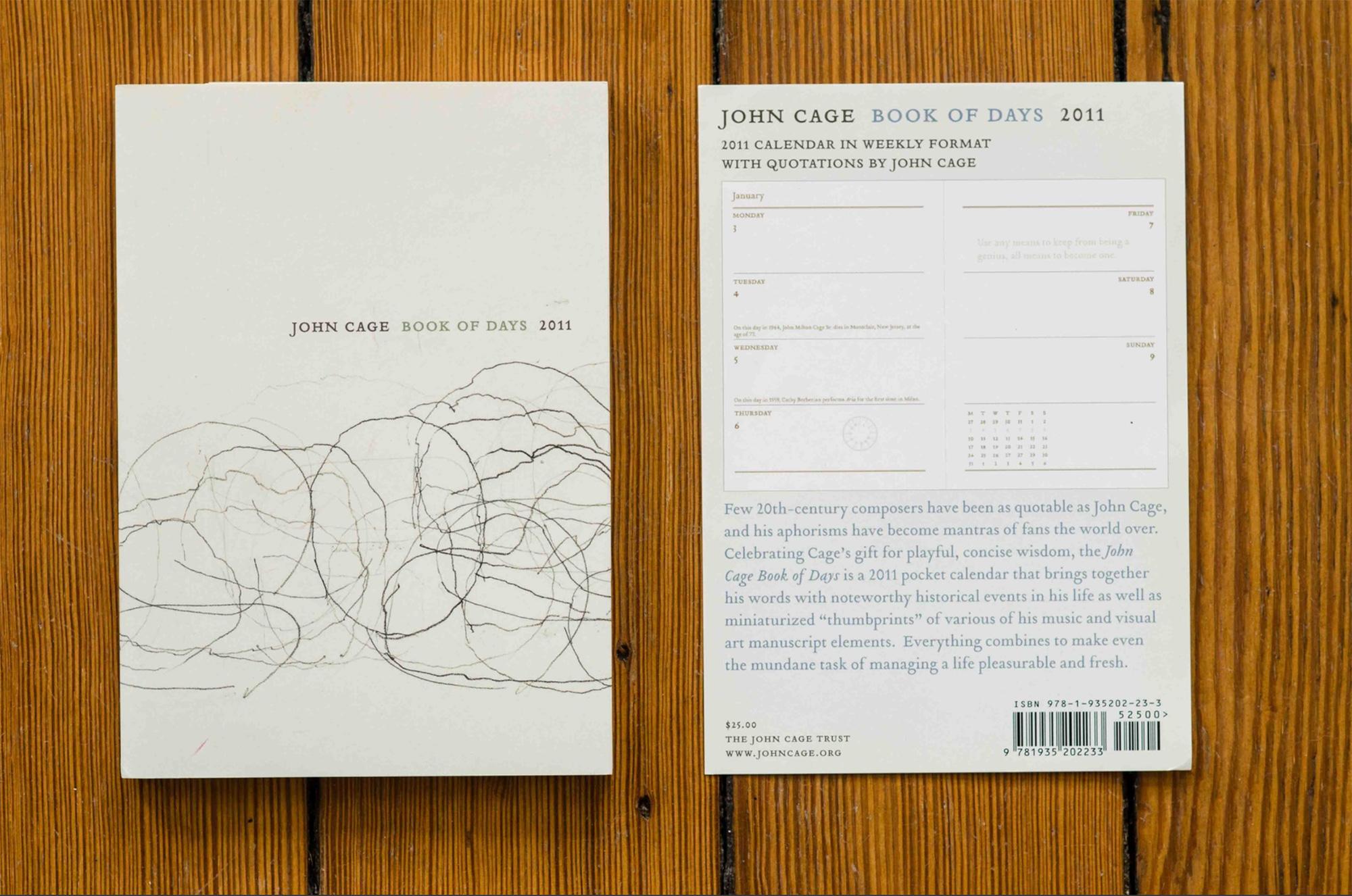 John Cage Book of Days Calendar