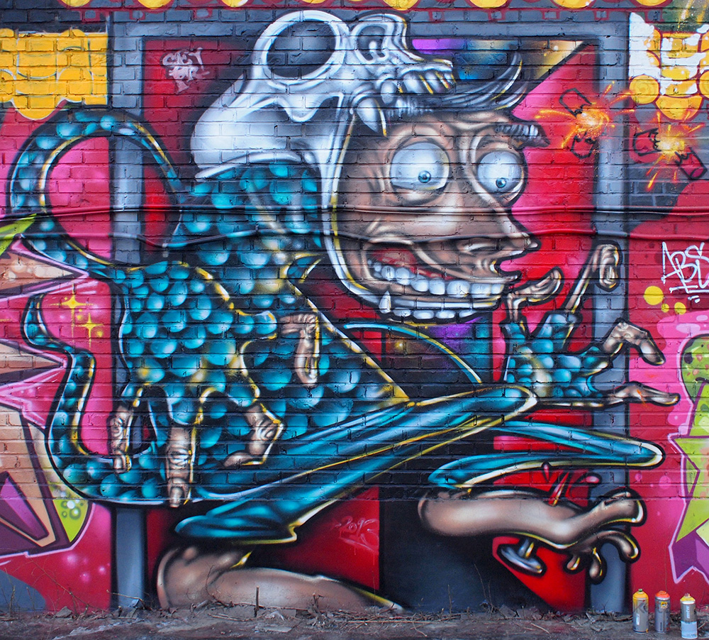 Beijing, China '13. Chinese New Year Wall with Rossi, AndC, Seven, Noise, Smer