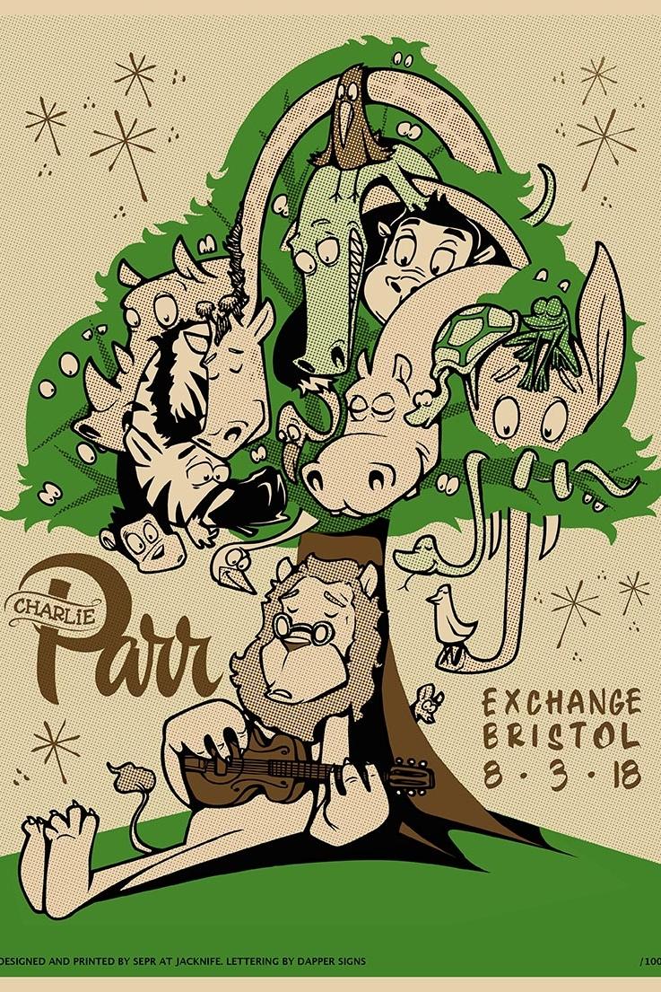 Charlie Parr gig poster. 3 Colour gig poster '18