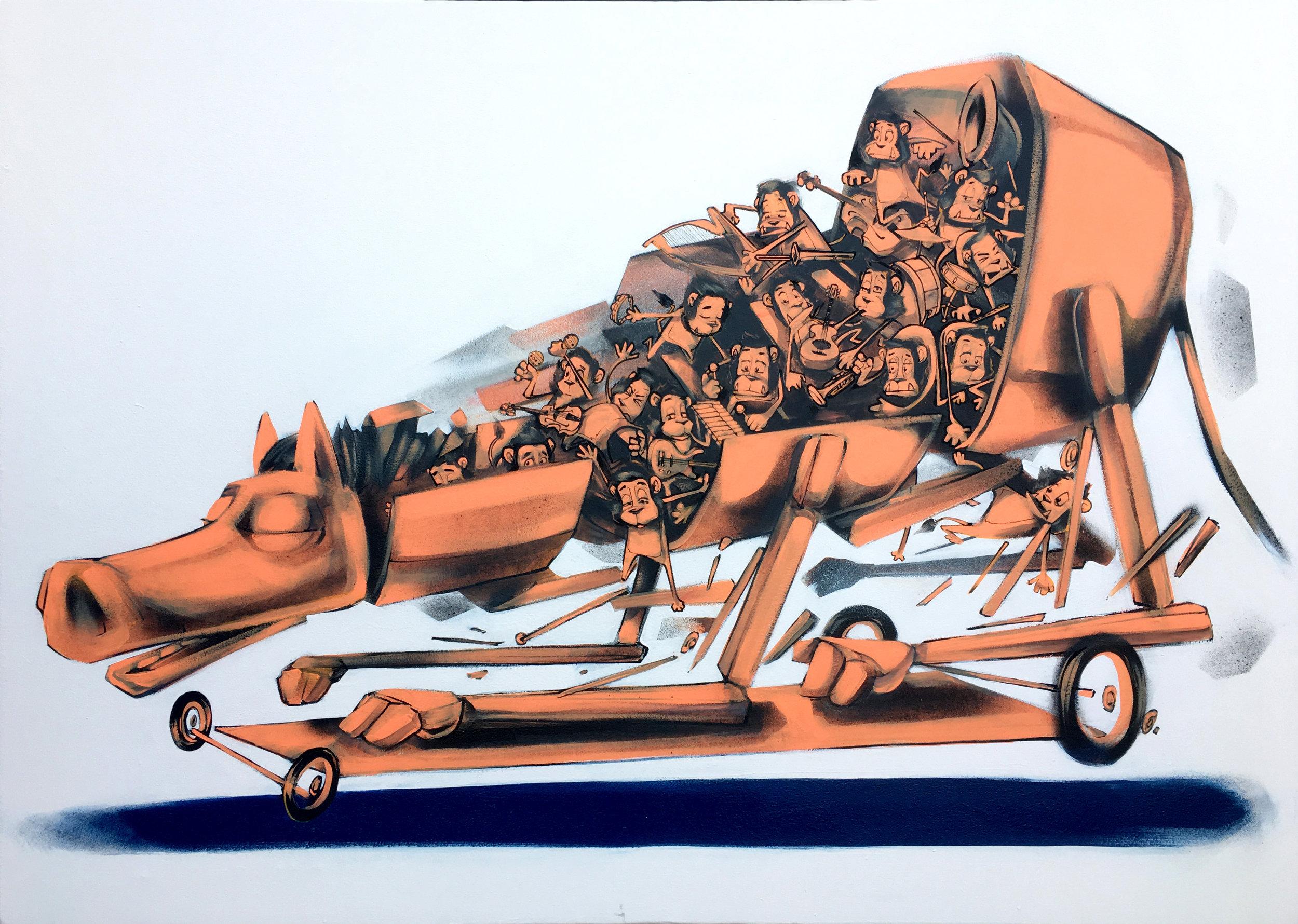 'Trojan Dub'. Canvas '18