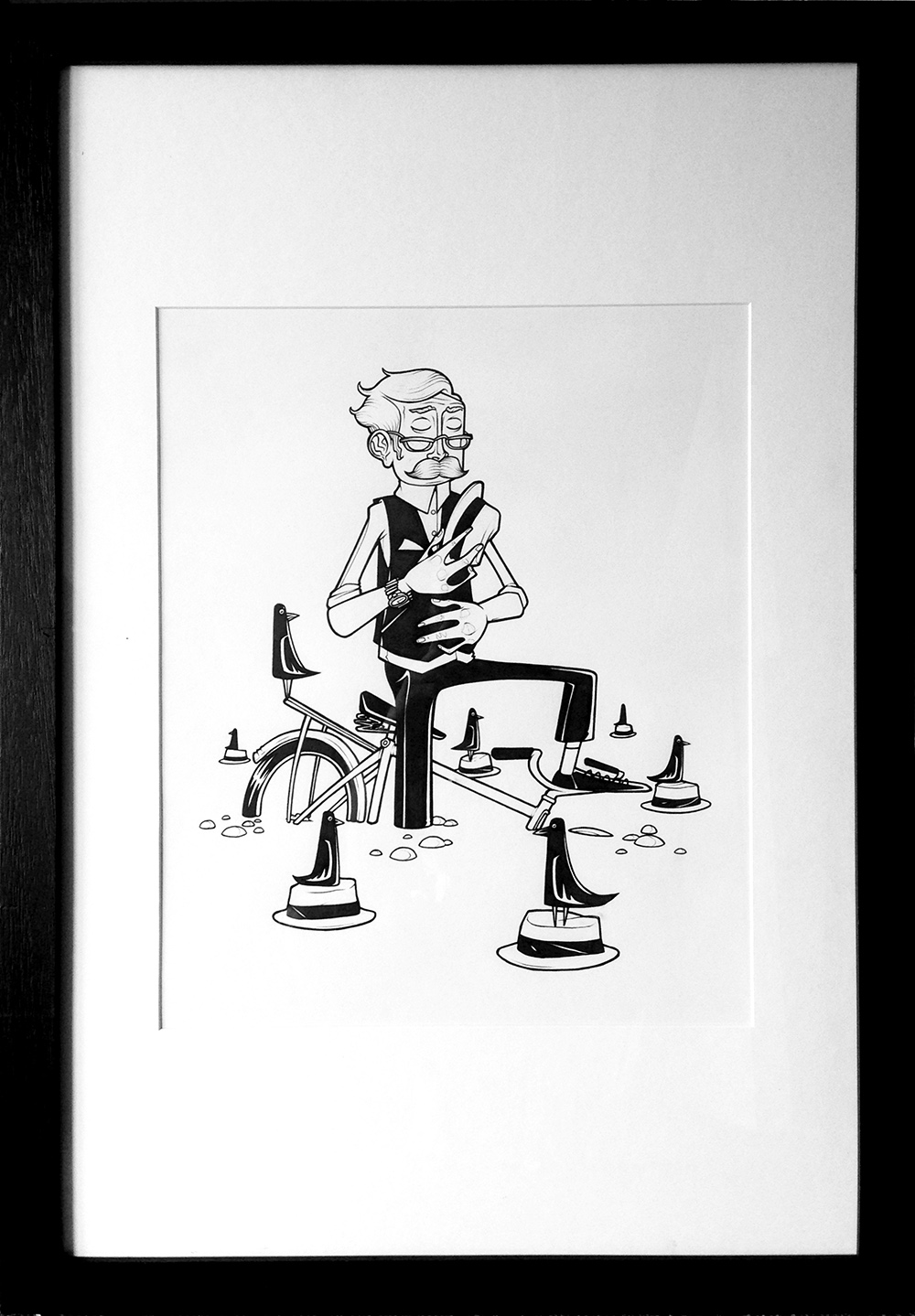 'Start To Finish'. Framed drawing for 'Do One' exhibition in Melbourne, Australia '15