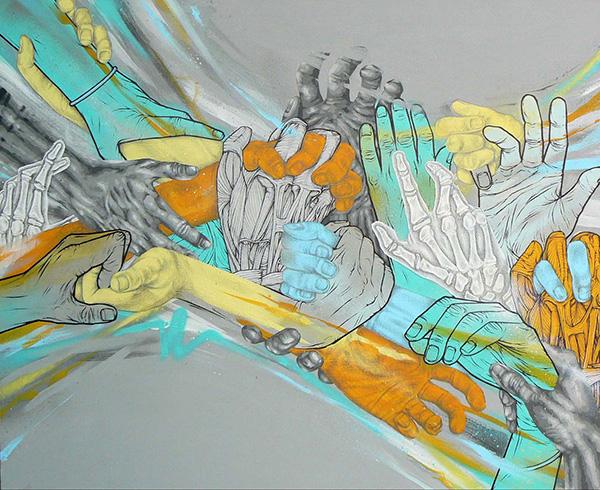 'Handstyles'. Canvas '09