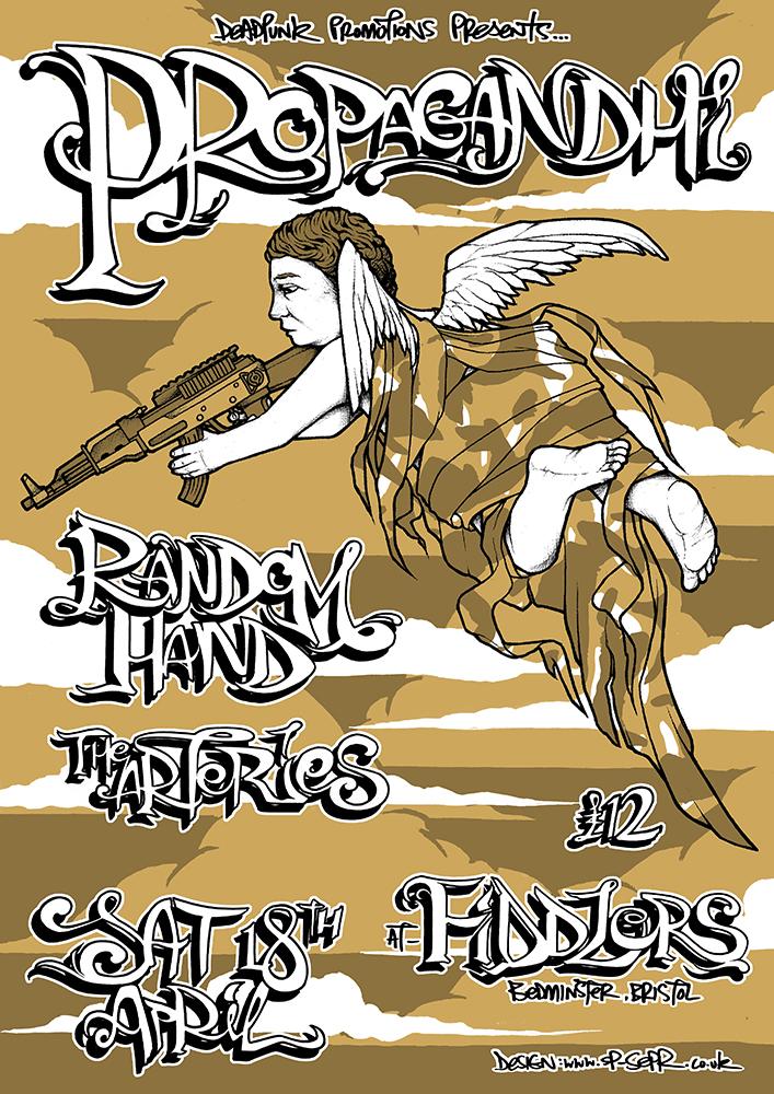 Propagandhi gig poster. 3 Colour screen print '09